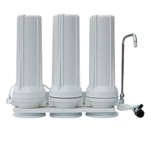 three stage counter top household water filter system