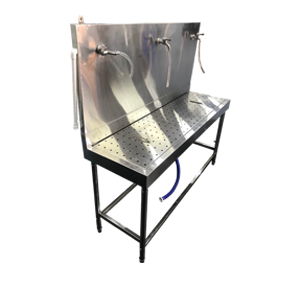 stainless steel bottling table for water bar