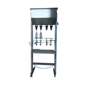 semi-automatic water bottle filler and capper